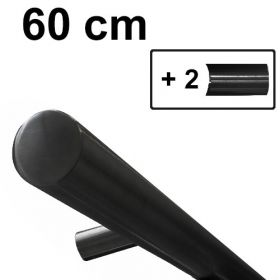 Design trapleuning zwart - 60 cm + 2 houders *GLADDE COATING*