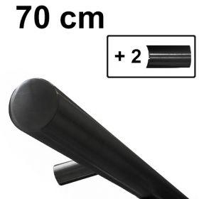 Design trapleuning zwart - 70 cm + 2 houders *GLADDE COATING*
