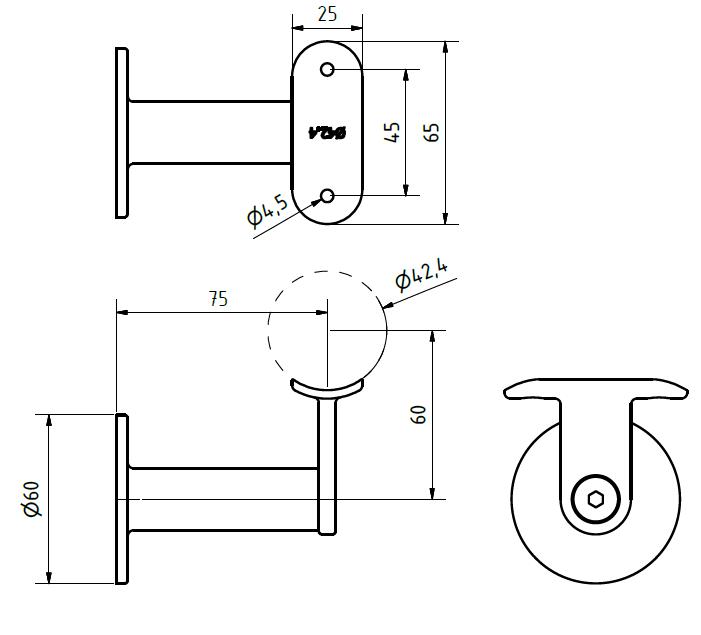 trapleuning-houder-rvs-3160